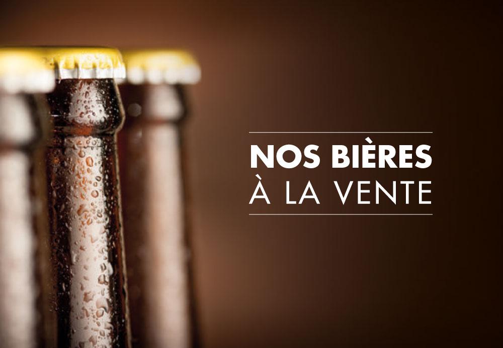 Nos bières à la vente